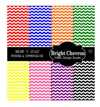 Birght Chevron Paper Pack