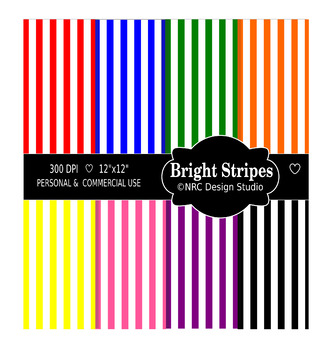 Birght Stripes Paper Pack