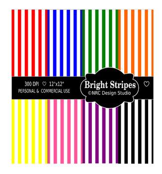 Birght Stripes Paper Pack