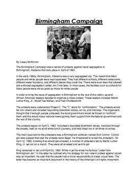 Birmingham Campaign Article