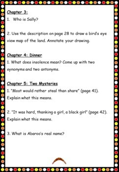Birrung the Secret Friend by Jackie French Comprehension Questions