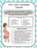 Birth Defects Pamphlet Project