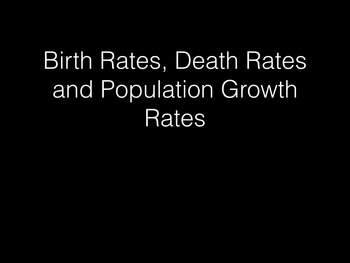 Birth Rate, Death Rate and Population Growth Rate: A Short Introduction