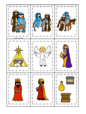 Birth of Jesus Memory Matching Game. Preschool Bible History Curriculum Studies.
