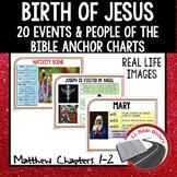 Birth of Jesus Nativity Anchor Charts (Bible Matthew Ch. 1-2) Christmas