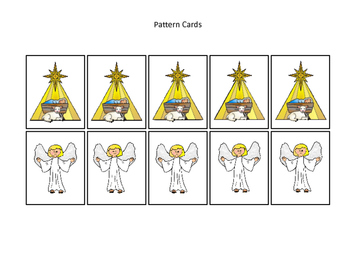 Birth of Jesus Pattern Cards. Preschool Bible History Curriculum Studies.