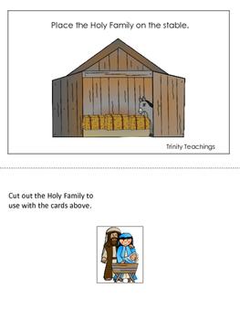Birth of Jesus Positional Cards. Preschool Bible History Curriculum Studies.
