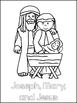 Birth of Jesus Printable Color Sheets. Preschool Bible Study Curriculum.