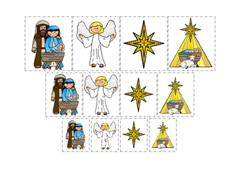 Birth of Jesus Size Sorting Game. Preschool Bible History