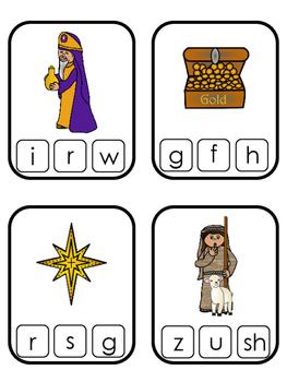 Birth of Jesus beginning sounds clip it cards. Preschool bible history curriculu
