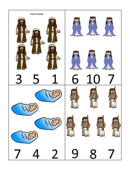 Birth of Jesus Math Number Clip it Cards. Preschool Bible history curriculu