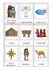 Birth of Jesus printable 3 Part Matching game.  Christian
