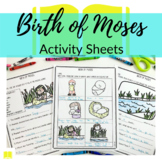 Birth of Moses Printable Activity Sheets for Sunday School