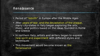 Birth of the Renaissance Power Point