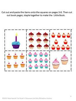 Birthday Counting Cupcakes Math Cut and Paste Activities Special Education