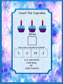 Counting Cupcakes Math Cut and Paste Activities, Summer Sp
