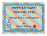 Brag Tags~Birthday & 1/2 Birthday