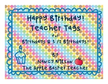 Brag Tags~Birthday & 1/2 Birthday