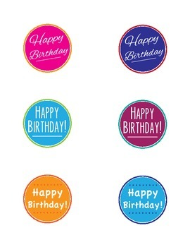 Birthday Toppers