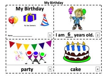 Birthday 2 Emergent Reader Booklets - My Birthday