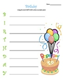 Birthday Acrostic Poem - PDF