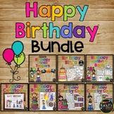 Birthday Activities BUNDLE No Prep Book, Certificate, Bingo, Bookmark, Topper