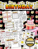 Birthday Activity Set / Worksheets + Flashcards