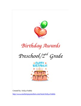 Birthday Awards