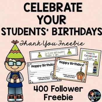 Student Birthday Awards Free