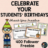 Student Birthday Awards Free