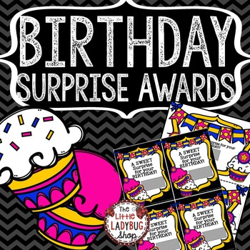 Student Birthday Awards • Birthday Prize • Surprise Birthday Gift
