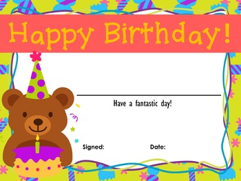Birthday Awards and Certificates