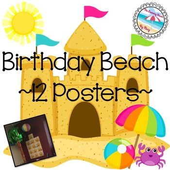 Birthday BEACH Sandcastle Posters