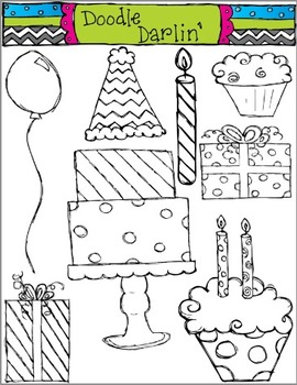 Birthday BLACK & WHITE Set