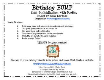 Birthday BUMP -- Multiplying Doubles