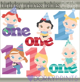 Birthday Baby Princess Clip Art