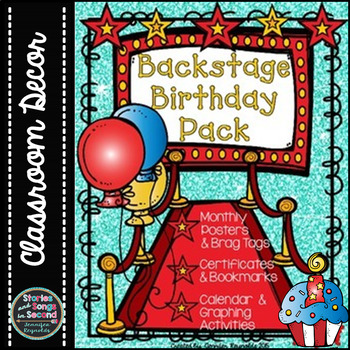 Birthday Backstage Pass Pack--Posters, Graphing Activities