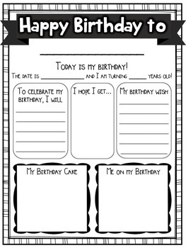 Birthday Bag! {Take-Home} {Editable Pages} {Parent Notes} {Activity and Journal}