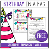 Birthday Bag FREEBIE