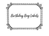 Birthday Bag Labels