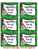 Birthday Bag/Cup Labels (green)
