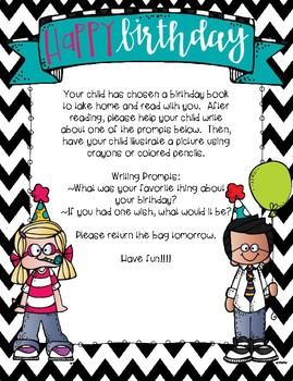 Birthday Bag Letter