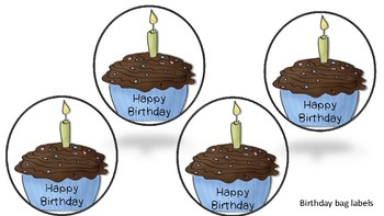 Birthday Bags Labels & Cards