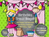 Birthday Certificate Bags - coupons, certificates, tags {M