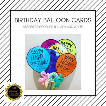 Birthday Balloon Cards