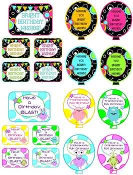 Birthday Balloon Classroom Decor Pack