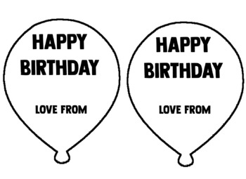 Birthday Balloon (Editable)