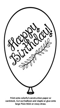 Birthday Balloon Gift for Students