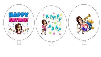 Birthday Balloon Pencils