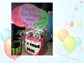 Gifts For Your Students - Birthday Balloon Pencils!